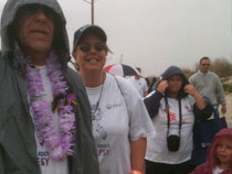 Northeast Regional Epilepsy Team-Louis, Mary and Danika braving the rain